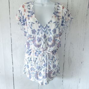 Wildfox Romper Roadtrip Paisley V Neck Shorts New
